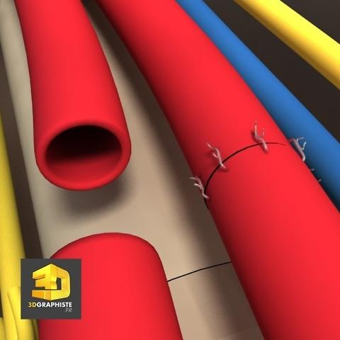 suture arteres veines - illustration médicale