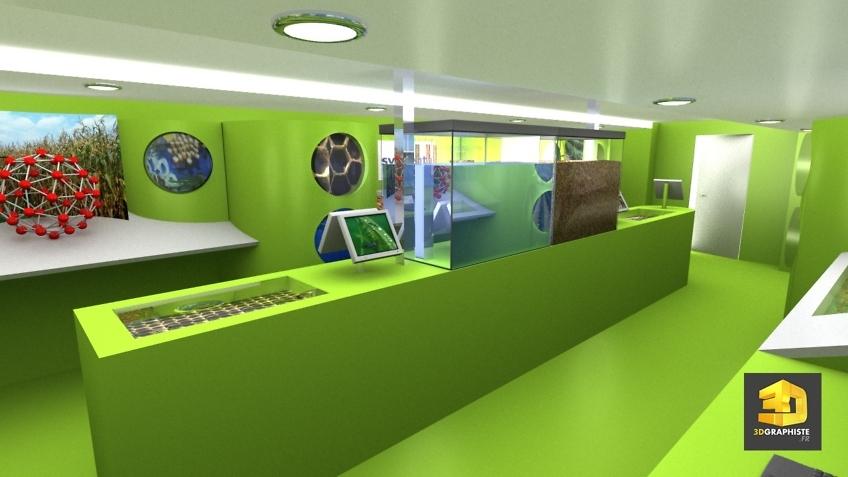 Visite 3D interieur camion evenementiel syngenta
