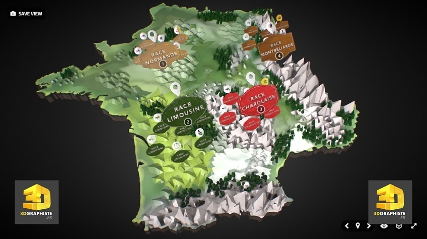 Carte de France 3D Interactive
