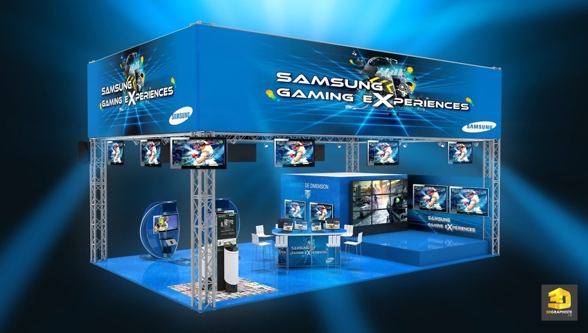 Graphiste Stand Comic Con Paris 2012 - Samsung