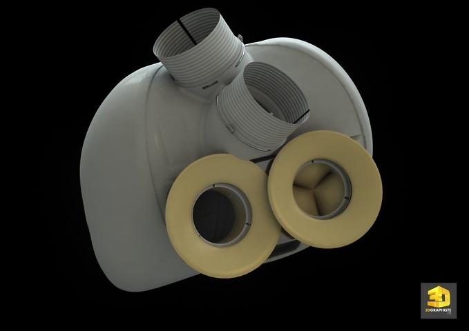 Infographie 3D - Cœur artificiel
