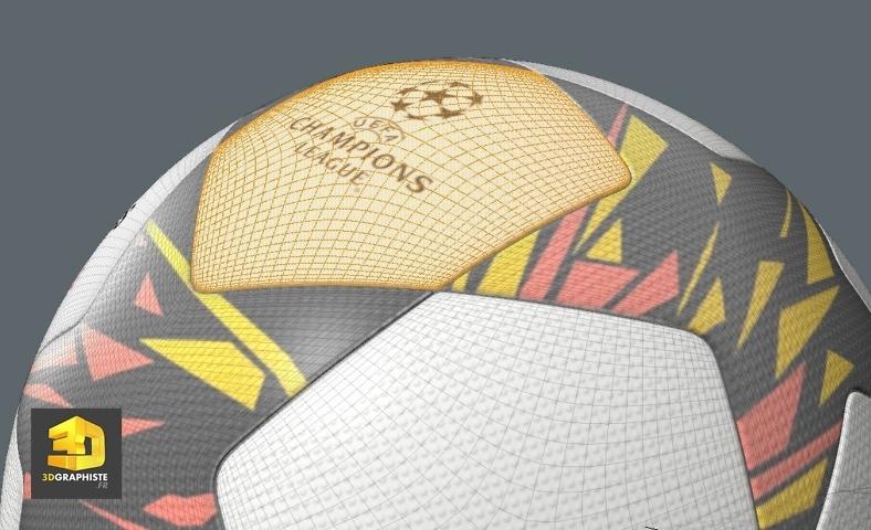 Modeleur 3d freelance - Ballon de foot UEFA