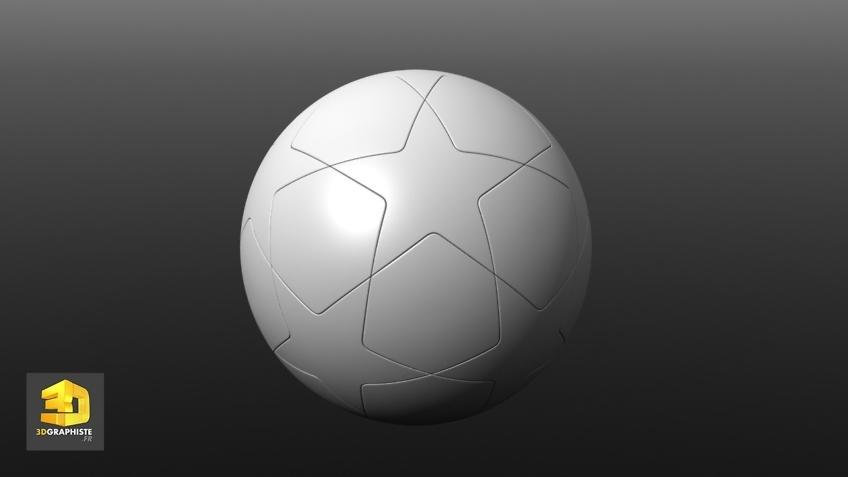 Modélisateur 3D ballon de football UEFA
