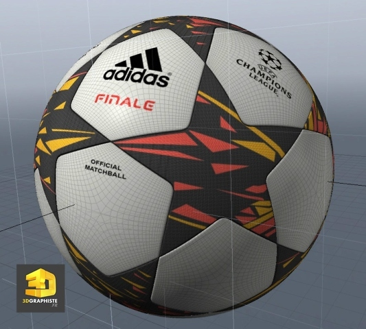 Modélisation 3D ballon de football UEFA