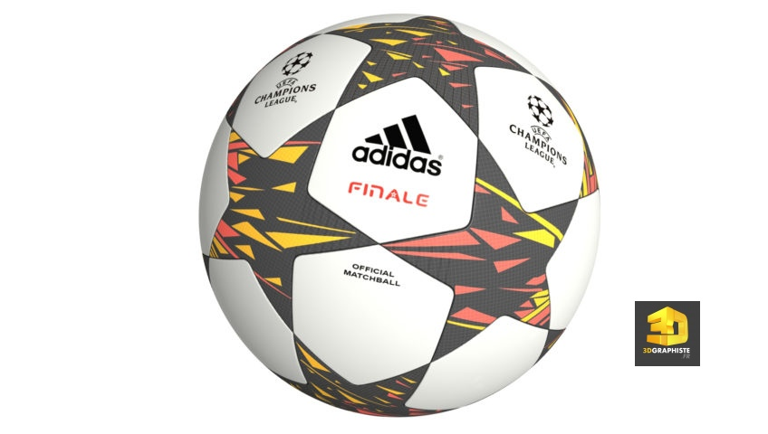 Mod lisation 3d ballon de football uefa 3dgraphiste fr for 3d modelisation