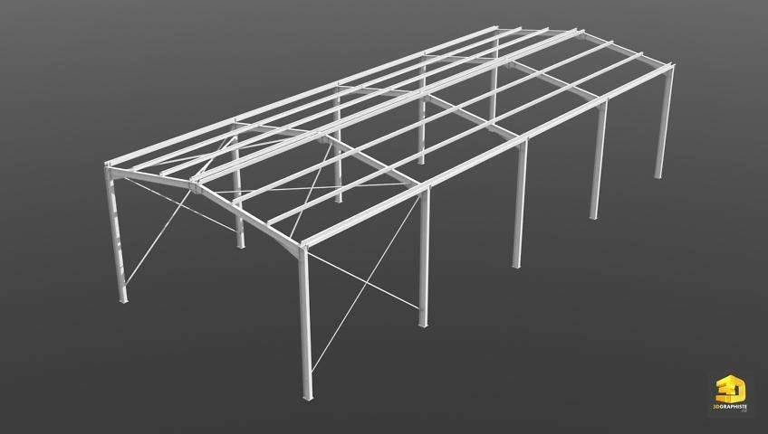 Modélisation 3D Charpente