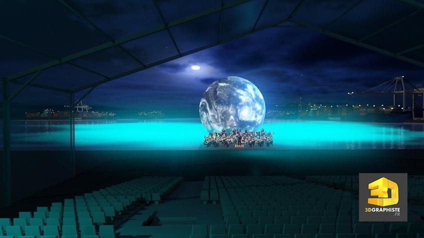 perspective 3d événementielle - spectacle inauguration