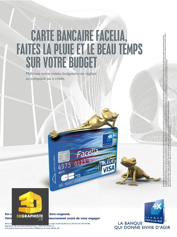 Mascotte 3d Grenouille Banque Populaire 3dgraphiste Fr
