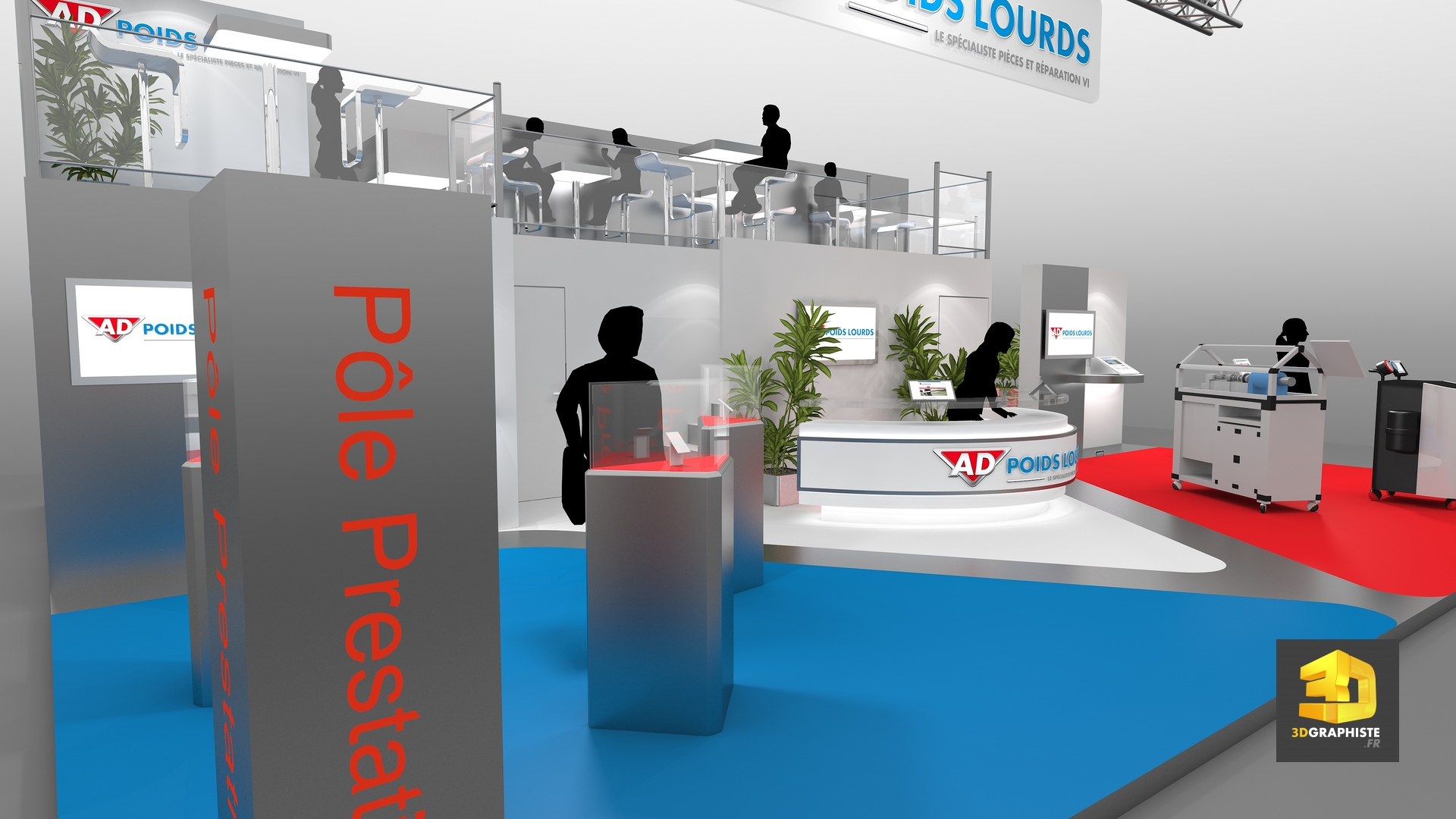 Stand autodistribution cr ation de stands 3dgraphiste fr for Concepteur de stand