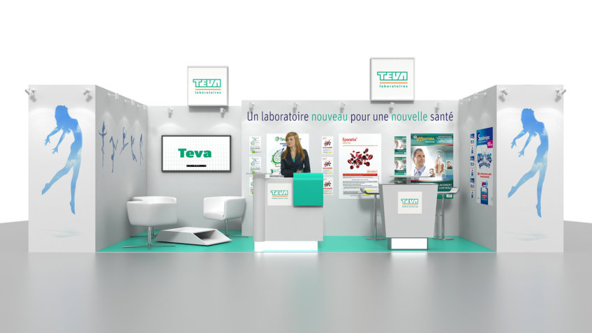 Stand TEVA - Stand sur mesure