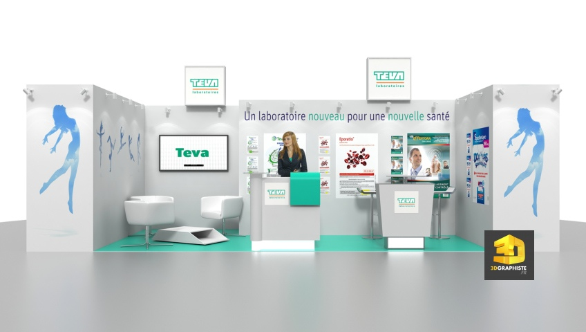 Stand TEVA - Stand sur mesure