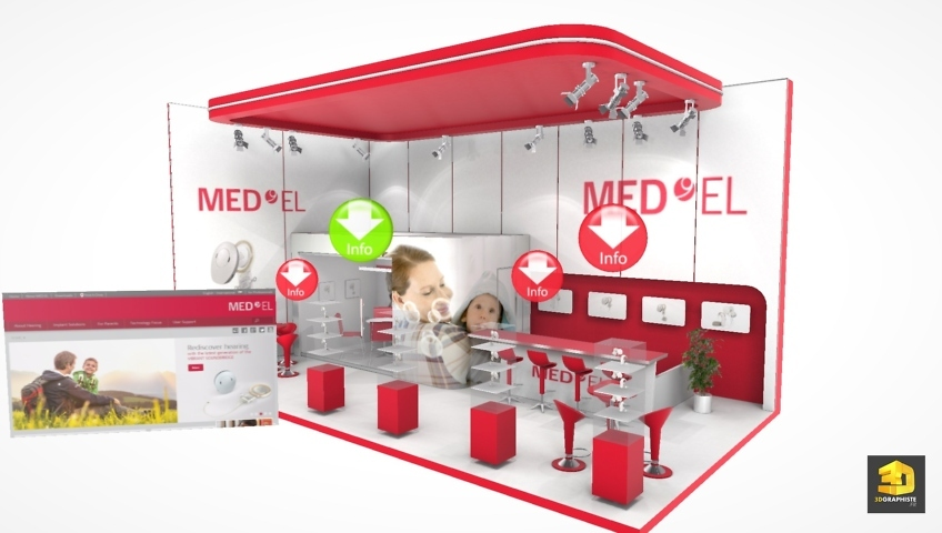 visualisation 3d de stand - Med-el
