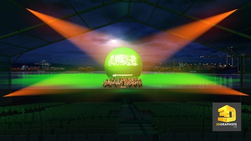 visualisation 3d événementielle - show d'inauguration