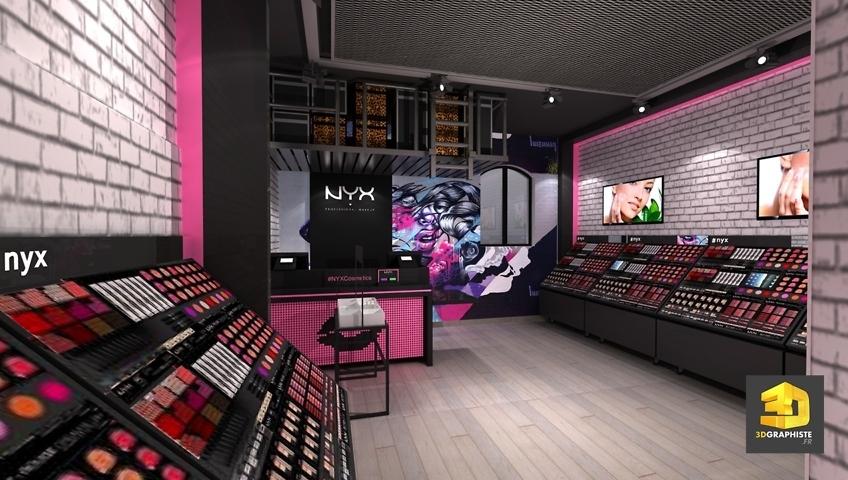 Agencement magasins NYX et décoration d'intérieur - NYX