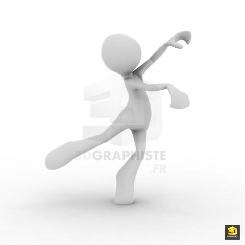 Bonhomme 3D Danse