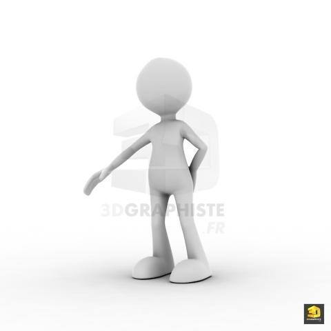 Bonhomme 3D - serre la main