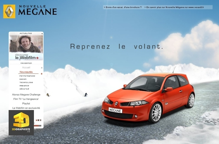 integration vehicule infographie 3d