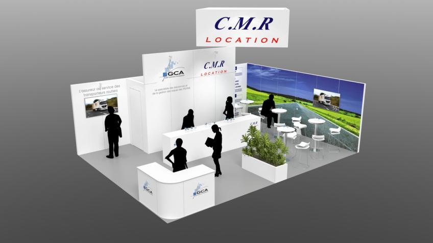 Perspective 3D - Design du Stand CMR-GCA