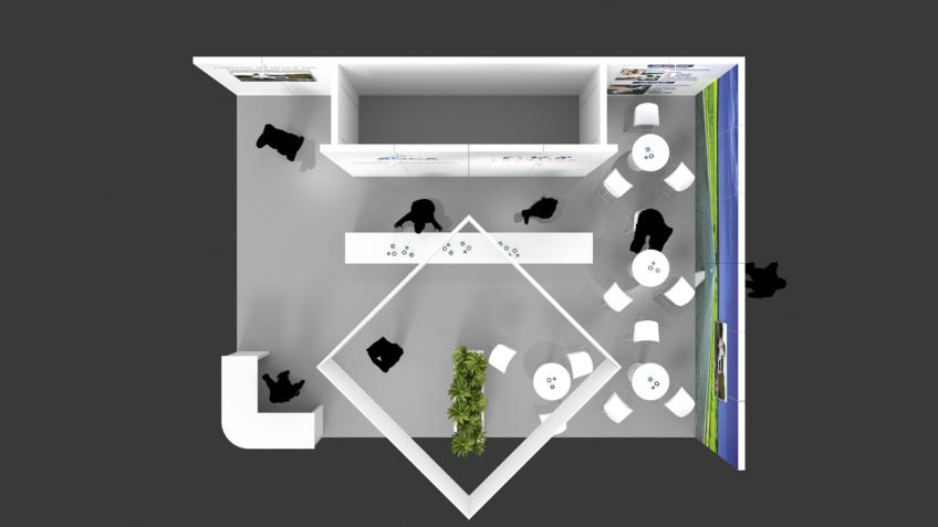Plan de stand pour salon et expo - CMR-GCA