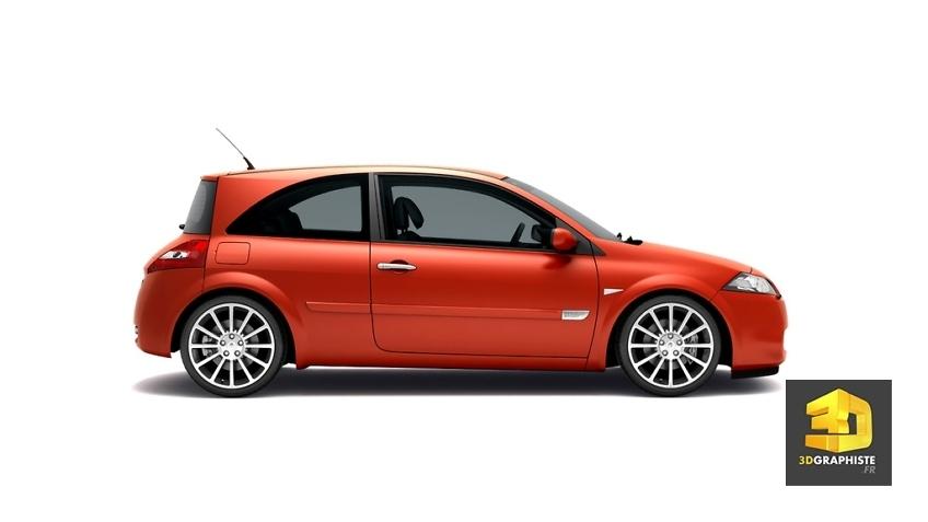 renault Mégane RS - rendu 3d