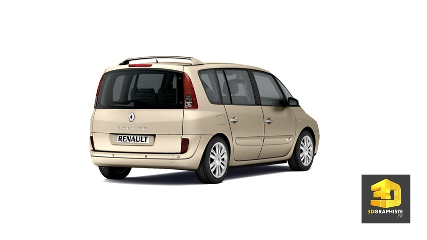 renault espace phase 2 - image 3d