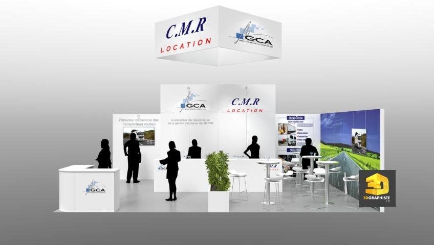 Stand CMR-GCA - Salon Solutrans 2015 - concepteur de stands