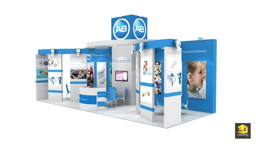 Design de stand Advanced Bionics - Étude 3D