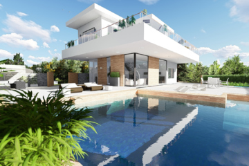perspective 3d architecture - maisons contemporaines