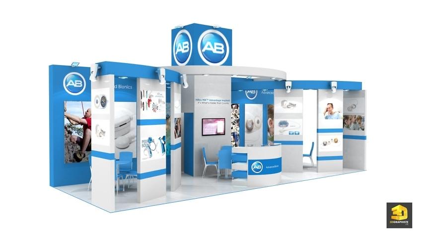 Stand médical Advanced Bionics - perspective 3D