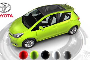 configurateur 3D automobile Toyota Yaris