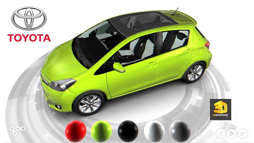 configurateur 3D automobile Toyota Yaris