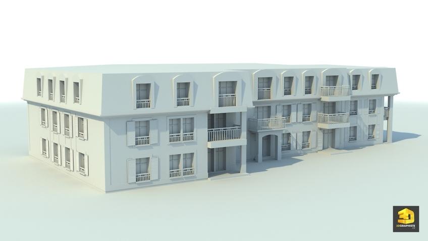 Modélisation 3D Architecture - Bâtiment