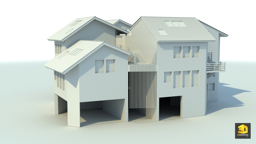 modelisation 3d architecture - école maternelle