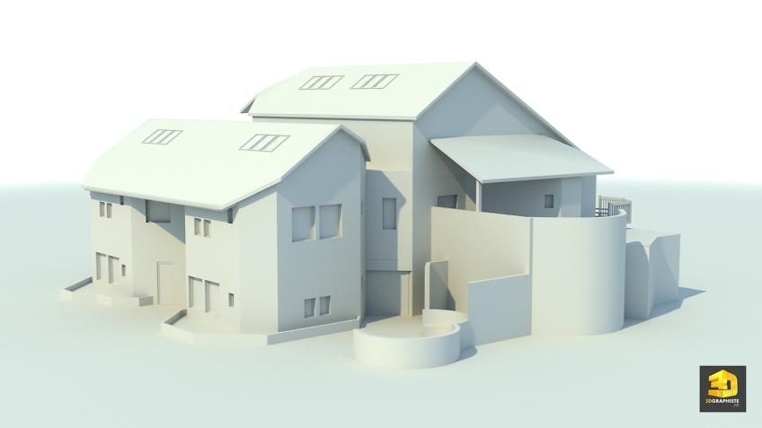 modélisation 3D architecture - école primaire