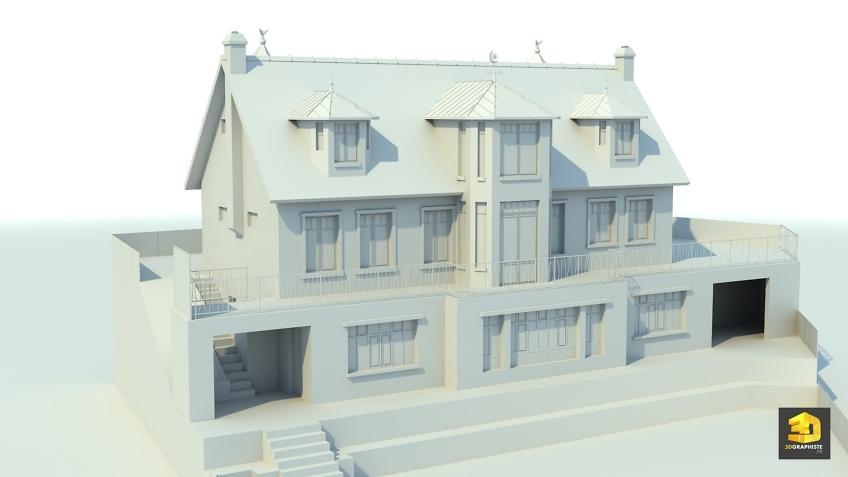 modelisation 3d architecture - maison individuelle