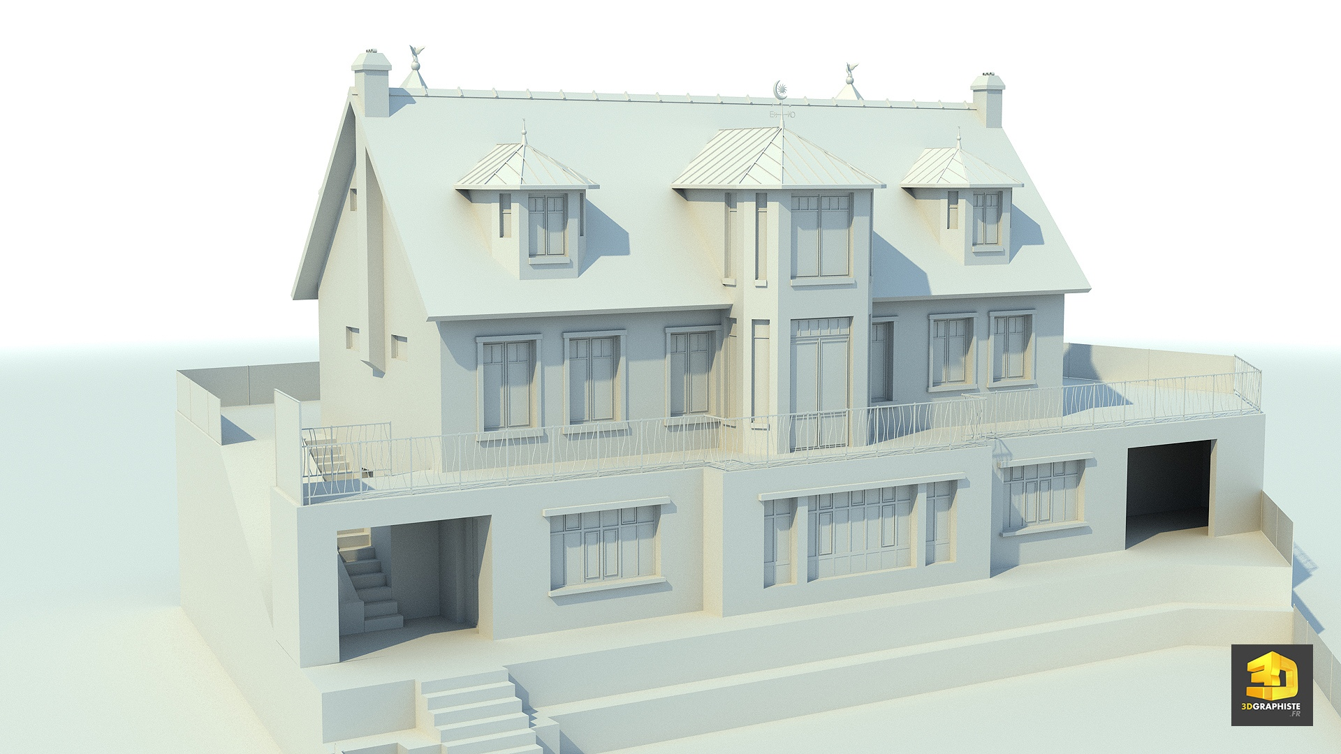 Mod lisation 3d pour l 39 architecture 3dgraphiste fr for Architecture contemporaine maison individuelle