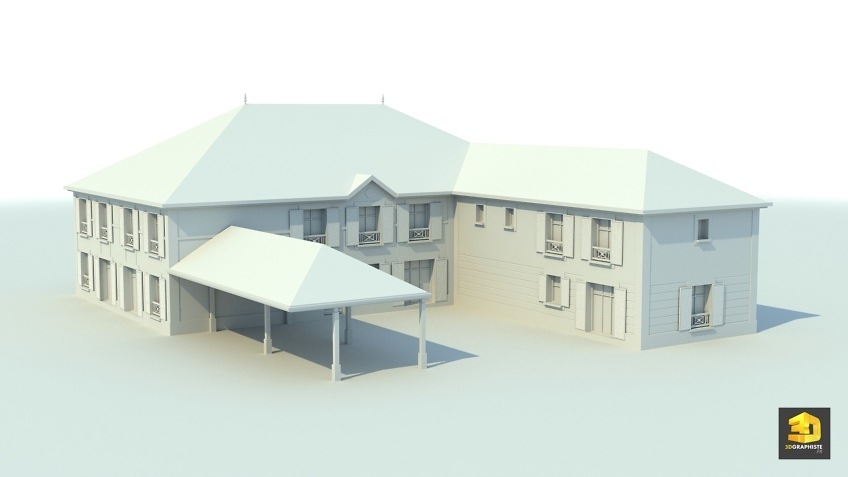 Modélisation 3D architecture - Mansarde