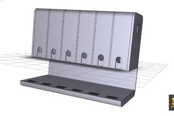 Modelisation CAO d'un meuble E-liquides