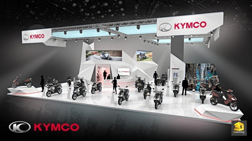 Rough 3d stand Kymco - exposition booth