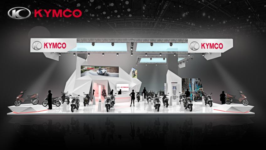 stand Kymco - salon de la moto, du scooter et du quad - Kymco Exposition Booth