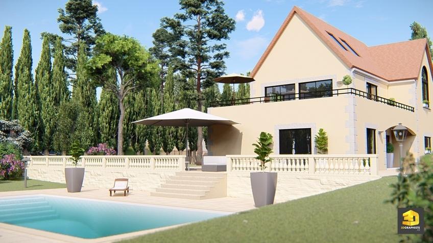 Animation 3D d'une maison - film d'architecture Weser
