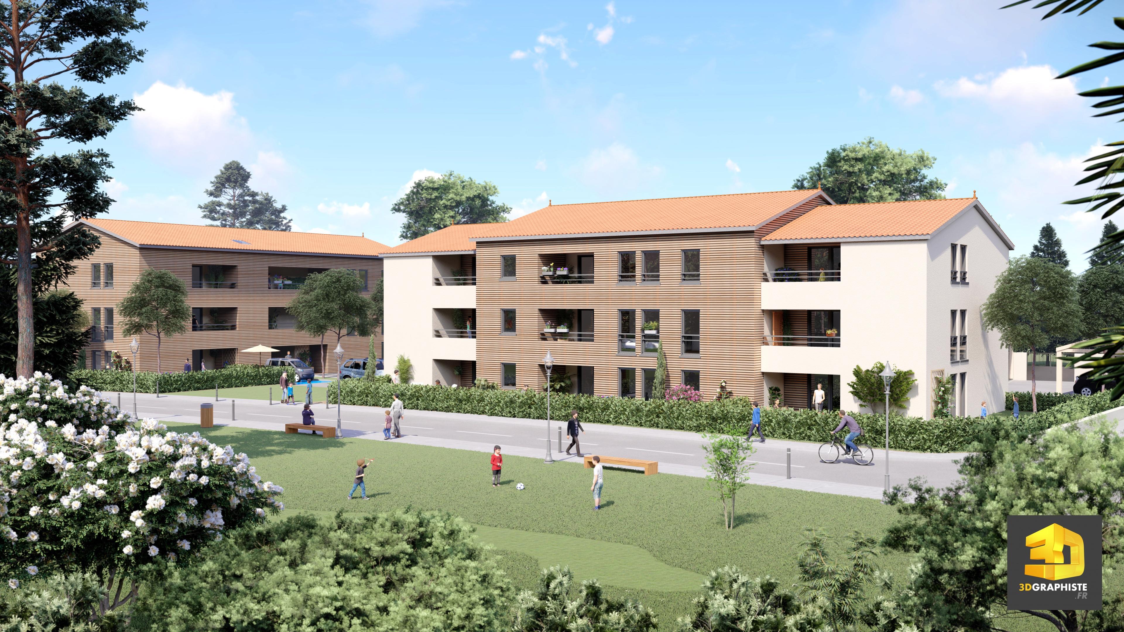 Perspective immobili re deux immeubles de logements for Immobilier e