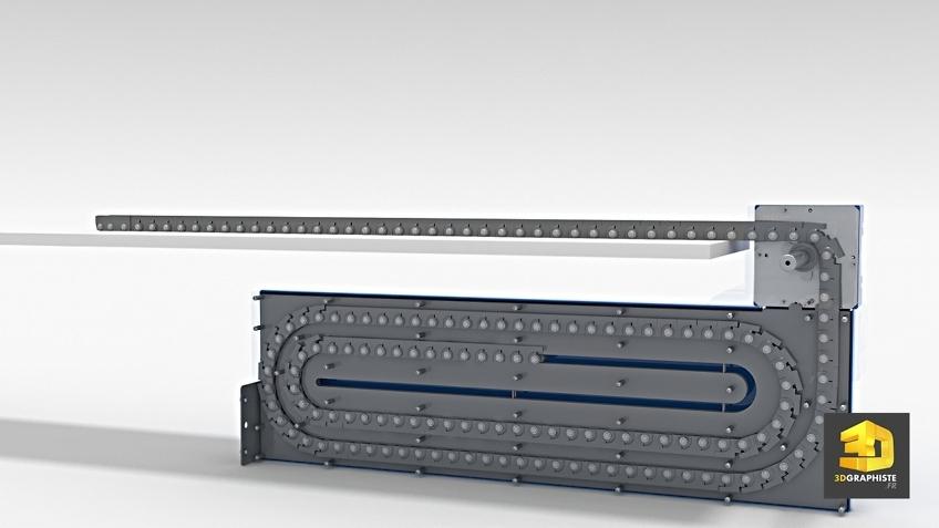 écorché 3D chaîne linéaire télescopique