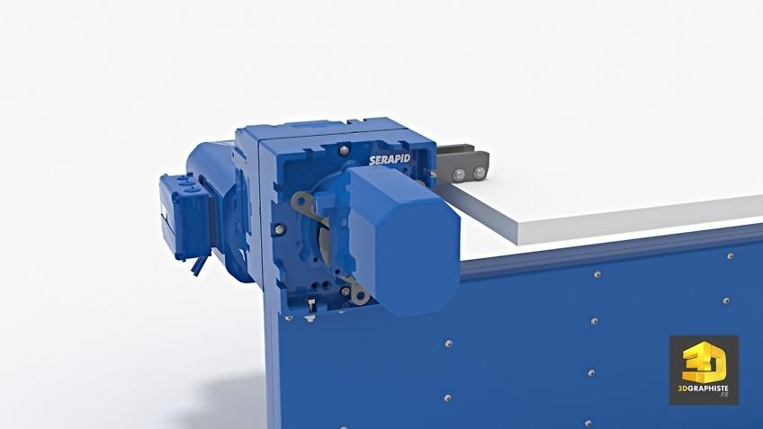 illustration 3D moteur machine