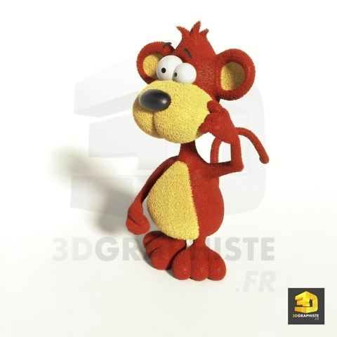 illustration singe cartoon en 3D