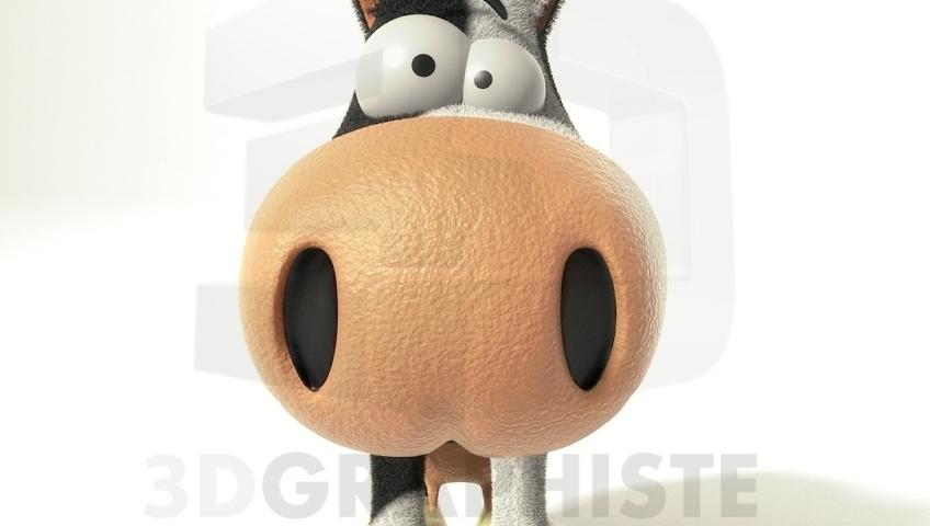 Mascotte de vache