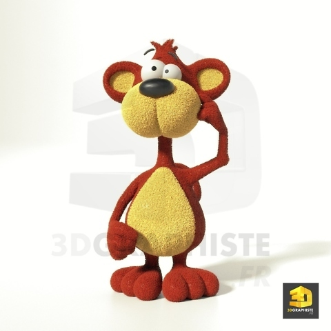 Animal 3D - singe cartoon