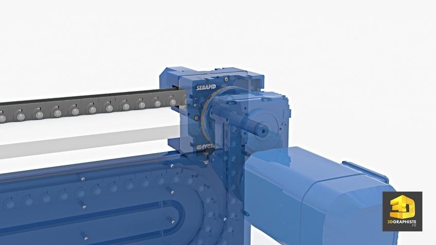 serapid rollbeam - illustration 3D machine