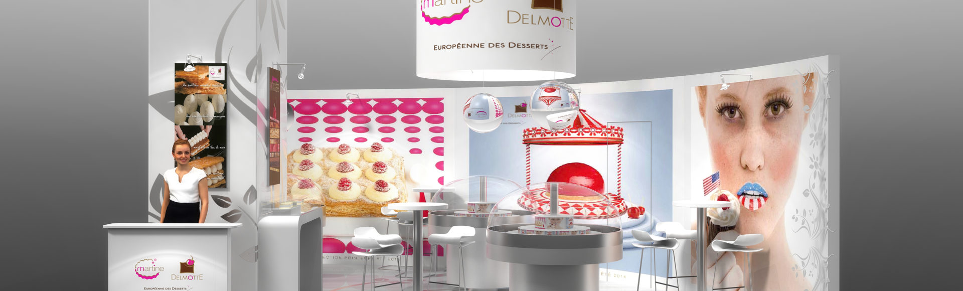 Stand patisseries Martine Delmotte