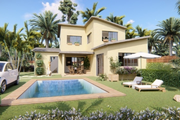 illustration 3d architecture - villas gabriel